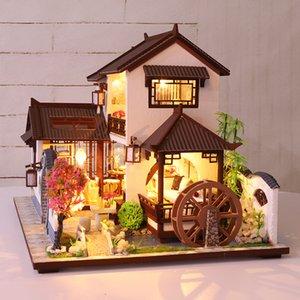 CUTEBEE bambini giocattoli Doll House Mobili Assemblare legno miniatura Dollhouse Dollhouse Diy di puzzle educativi giocattoli per i bambini