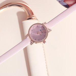 Montre mode pour filles et Little Pure Fresh Lovely Tender Simple, montres mignonnes étanches, montre-bracelet adaptable pour femmes