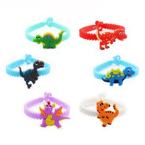 silicone Dinosaur bracelet cartoon animal Dinosaur kids bracelet bang cuff children gift will and sandy new