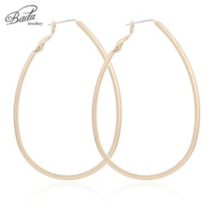 Badu Big Hollowing Geometric Hoop Earrings for Women Gold Silver Punk Earring Exaggerated Jewelry Gift for Christmas Wholesale