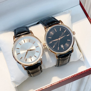Высокое качество спортивные часы класса люкс Mens черный кожаный Простой Случайный человек календарь кварцевый моды Наручные часы современные дизайнерские часы