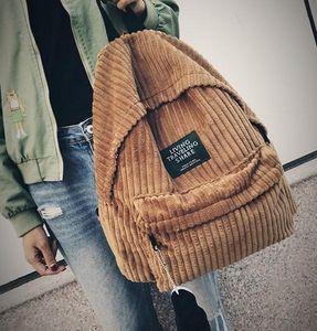 Morral de la escuela bolsas mochila mujeres pana mochilas para las mujeres adolescentes niñas femenina bagpack 440Backpack schoolbag