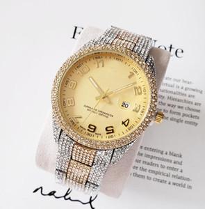 bb01 para hombre de la moda llena de diamantes relojes de lujo reloj clásico Shinning diseñador de cuarzo para hombre del partido de las mujeres del reloj de pulsera Movimiento regalo
