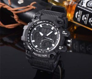 Good Design Men Automatic Digital Electronic Watch LCD Camping Watches Led Quartz Wristwatch Rubber Sport Clock CS22 For Free Shipping