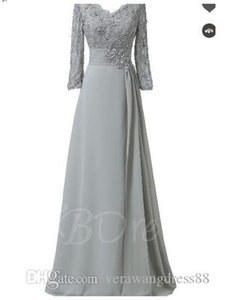 Elegant V-Neck Appliques A-Line Mother Of The Bride Dress