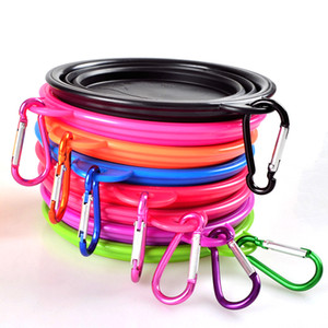 HOT sale fancy design food grade Silicone dog food foldable bowl Travel Collapsible Pet Cat Feeding Eco Friendly Bowls Water Dish Feeder