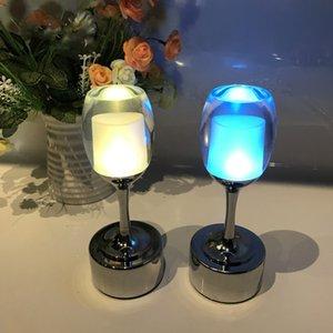Led Кафе Light Зарядка Бар Night Wine Bar Творческого стол Малых сенсорные Ностальгические лампы ресторан лампа Jhnrt