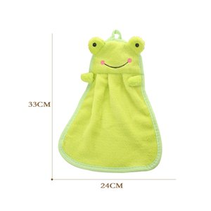 Hot Cute Animal Candy Colors Hand Towels Soft Coral Velvet Animal Towel Can Be Hung Kitchen Used Water Absorption Hand Towel