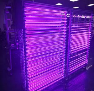 Colore viola 1.2M T5 LED UV 395-400nm tubo Black Lights Integrated lampada a raggi ultravioletti di disinfezione Germ raggi ultravioletti sterilizzatore Colla Luce