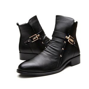 Men Casual Business Wedding Formal Boots Cow Leather Shoes Platform Brogue Boots Carving Bullock Ankle Boot Gentleman Botas Male