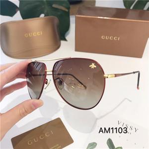 2019 Runde Metall Sonnenbrillen Designer Brillen Gold Flash Glasobjektiv für Frauen der Männer-Spiegel-Sonnenbrille Runde unisex Sonne glasse
