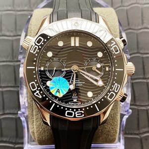 Супер часы 023 Montre DE Luxe 44мм 9900 движения 904L штрафа часы стали оболочкой и супер-Luminova материала автоматических часов