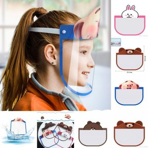 Los Estados Unidos de PET de dibujos animados Niños Cara Escudo de Seguridad Chidren máscara protectora cubierta antiniebla Anti-UV Transpartent máscara facial para Niños Niñas