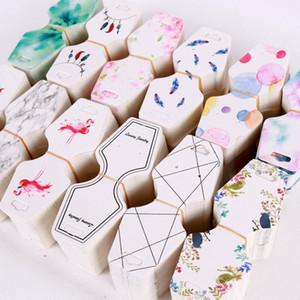 Multi Colares de Jóias de Cor Colares de Exibição de Cartões De Papel De Impressão Impressão Tag Tag do cair atacado 4.5 * 10.8 cm