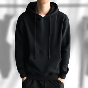 Velvet sweater men's hooded fashion thickened hoodie men's coat sport Student clothes pullover pullover solid color students