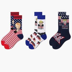 2020 Trump Stripes Mid-теленок носки мужских Люди женщина носки хлопка президент Дональд Трамп Новых Весёлые носки 3 цвет 6 пара