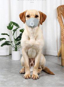 3PCS / SET 애완 동물 마스크 개 총구 연기 마스크 입 방진 안티 PM2.5 조정 통기성 개 훈련 총구 애완 동물 보호 DHL을 한 입 마스크