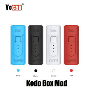 100% ursprünglicher Yocan Kodo Box Mod 400mAh Variable Spannung vorheizen VV-Batterie für 510 Vape Thick Öltank TH105 Cartridges Authentic