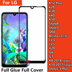 Full Glue Full Cover Hartglas-Displayschutzfolie für LG Q60 G6 G7 Stylo 4 5 K20 K30 K40 K50 Stylus 4 5 Aristo 2 3 K8 2018 LV3 LV5