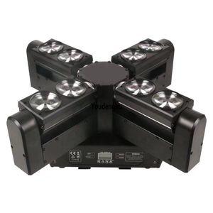 10 조각 led 빔 스캐닝 DJ 조명 8x12W rgbw 4in1 led 거미 빔 저렴 한 이동 헤드 라이트