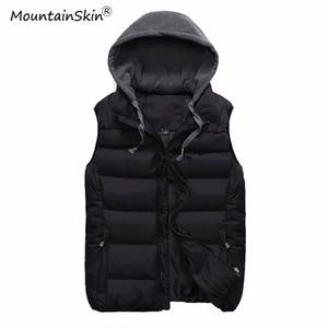 Mountainskin 4XL erkek Yelekler Kapşonlu Kolsuz Ceketler Kış Erkek Kadın Sıcak Sonbahar Slim Fit Yelek Erkek Marka Outerwears LA534 T5190613