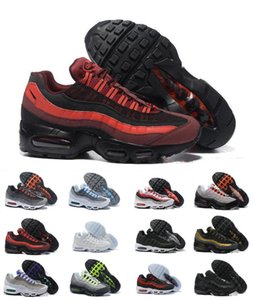 2020 Bred Ultra 95 OG X 20th Anniversary Men Running Sports Shoes 95s Luxury Designer Air Black Sole Grey Blue Trainers Tennis Sports Shoes