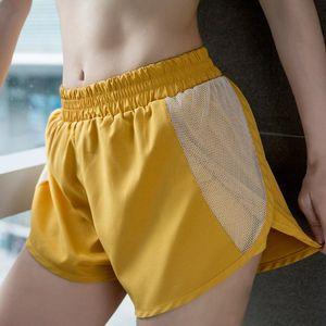 BINAND Mesh-Laufhose Elastic Waist Shorts Quick Dry Gym Short Yoga Fitness Short Double-Layer-Ausbildung