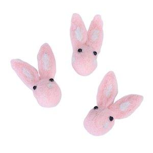 3pcs Rabbit Shape Wool Felt Hanging Pendant Drop Ornament DIY Felt Craft Sewing Accessory For Home Party Festival Decoration