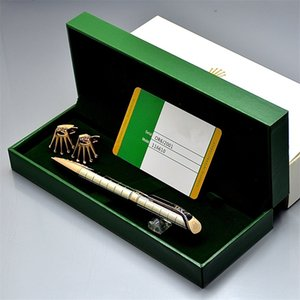 Promotional pen 13 Styles A Quality Rox ballpoint pen + green pen box with card + fashion Men groom shirt Cufflink For Christmas Gift
