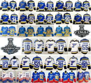 St. Louis Blues 27 Alex Pietrangelo 10 Schenn 17 Jaden Schwartz 50 Binnington 55 Colton Parayko 91 Wladimir 90 Ryan O'Reilly Oroilly Jersey