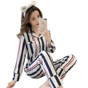 New Women Pajamas Sets Autumn Long Sleeve Cartoon Print Cute Sleepwear Girl Pijamas Leisure Nightgown Adult Clothes