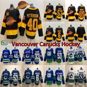 Yeni Vancouver Canucks 50 Seasons 40 Elias Pettersson 6 Brock Boeser 53 Bo Horvat 33 Henrik Sedin Bure 89 Alexander Mogilny Hokeyi Formalar