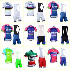 LAMPRE équipe cuissard court jersey manches (bib) Vêtements Vêtements ensembles de vélos été Ciclismo Ropa hombre Maillot sportwear B613-11