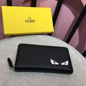 18SS 럭셔리 브랜드 높은 품질 100 % 최고 푸 MEN 긴 Bifold 지갑 지갑 빈티지 DESIGNERS 남성 Carteira MADAF