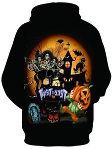 Hommes Femmes Designer Halloween Sweatshirts Pullovers Trick Bonbon à la citrouille Sweats à capuche Printemps Automne