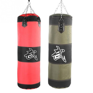 Svuotare Boxing Bag Sand Hanging scossa Sandbag Boxing Training Lotta Karate Punch Sabbia Borsa con catena di metallo moschettone T191230