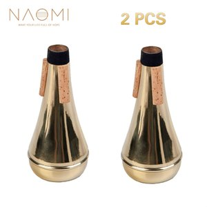 NAOMI Trumpet Mute Aluminum Trumpet Mute Straight Practice Yellow Color For Trumpet Woodwind Instrument Accessories