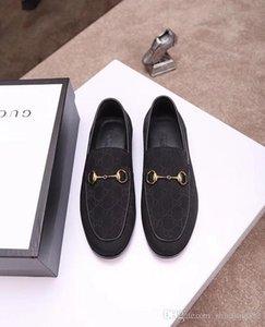 19SS para hombre de lujo Hockenheim V diseñador zapatos de vestir Negro Marrón de cuero de los holgazanes ocasionales del slip Gentleman en los zapatos Oxford señaló con la caja de 38-46