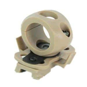taktik kask parçaları Tek Kelepçe 21mm 0.83'flashlight Plastik glial Siyah DE FG montaj