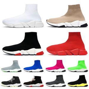 Balenciaga shoes Speed Diseñador de zapatos Speed Trainer Brand bule negro blanco rojo Flat Fashion para hombre para mujer Calcetines Botas Zapatillas de deporte de moda Entrenadores Tamaño 36-45