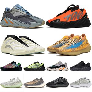 ayakkabı Kanye West 3M STATIC WAVE RUNNER Boost 700 v2 Running Shoes For Womens Mens Azael Alvah Alien Mist Vanta Luxury Designer Sneakers Numara 46