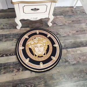 2020 cartas de diseño creativo alfombra alfombra de 60cm salón cocina redonda dormitorio felpudo gruesa alfombra de baño antideslizante