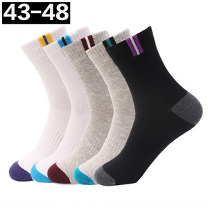 Men's large Middle-tube business men's Cotton and socks deodorant and sweat-absorbing large size 4546 size cotton socks fat