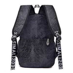 Designer-2020 Uomini d'epoca di viaggio zaino moda Nylon Laptop Backpack sacchetto di scuola Adolescente Struttura della corteccia grande capacità zaino