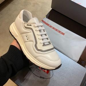 Yeni PRAX 01 Gabardine Kumaş Sneakers Beyaz Deri Lüks Üst erkek Sneakers Tasarımcı Ayakkabı Moda erkek Ayakkabı Boyutu 39-45