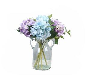 Mini Hydrangea Simulierte Blume Einzelne Hydrangea Hochzeit Urlaub Silk Blumen-Führer Blume Home Decoration Fotografie Projekte 20pcs / lot Y73