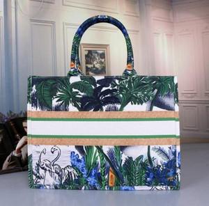 9COLOR الكلاسيكية أكياس شاطئ رسم تسوق حقائب اليد مصمم حقائب اليد الفاخرة ذات سعة كبيرة زهر الكرز ملون الزهور كتاب مستحضرات تجميل
