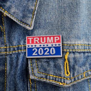 TRUMP 2020 رمز شارة دونالد ترامب للرئيس 2020 ثقب الجمهوري الأزياء بروش شارة الدبوس صديق هدية VT1101