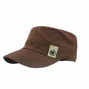Mens Sombrero Unisex Hombres Mujeres Techo Plano sombrero militar Cadete Patrulla Bush sombrero del campo de béisbol del casquillo del Snapback Caps casual # BL5