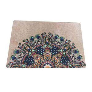 Мода Печатные натуральный каучук спортивный фитнес йога цветочные коврики влагостойкие нескользящие дорожные коврики богиня коврик 40 * 60 см ZZA908